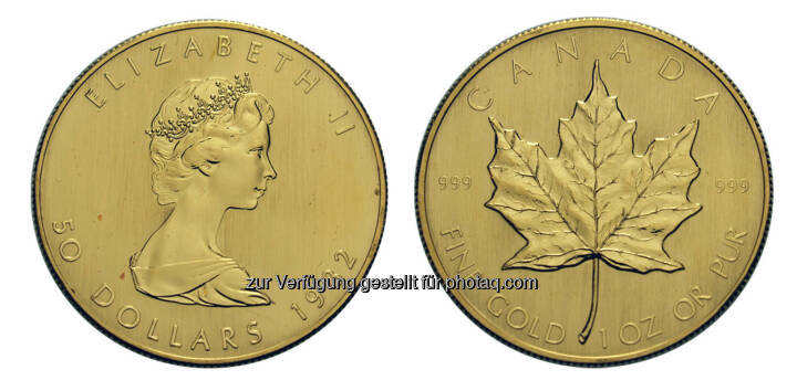 50 Dollar Maple Leaf, Kanada, Ottawa, 1982, Gold