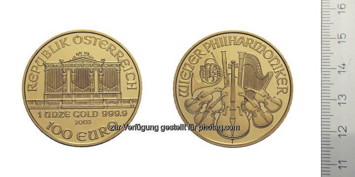 100 Euro Wiener Philharmoniker, Österreich, Wien, 2003, Gold