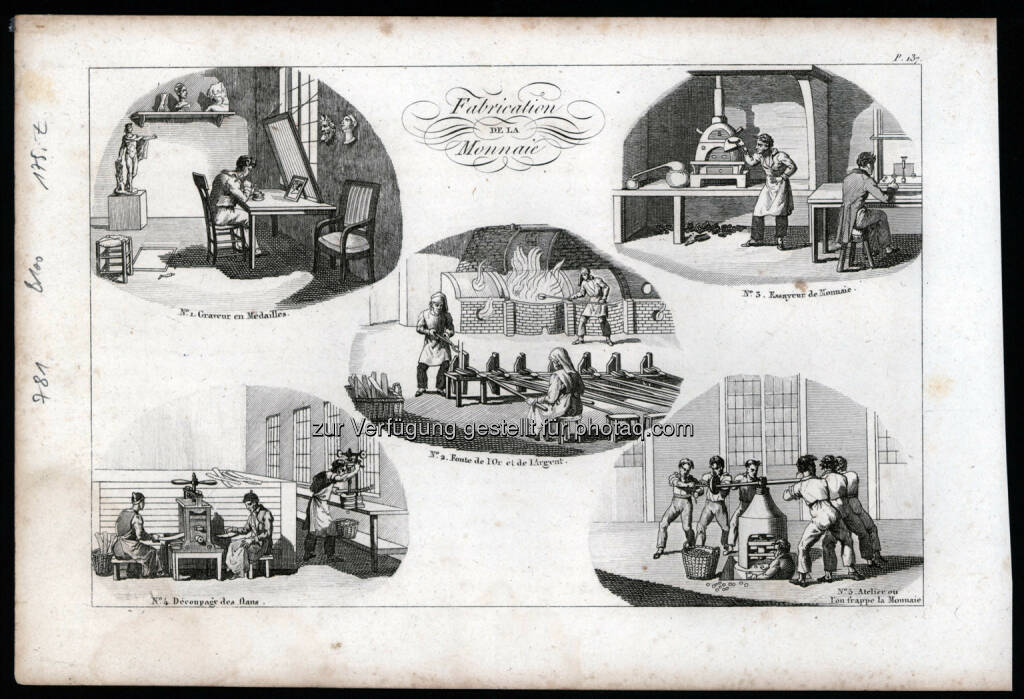 Fabrication de la Monnaie, Kupferstich, Galerie industrielle, 1822 (18.05.2014)