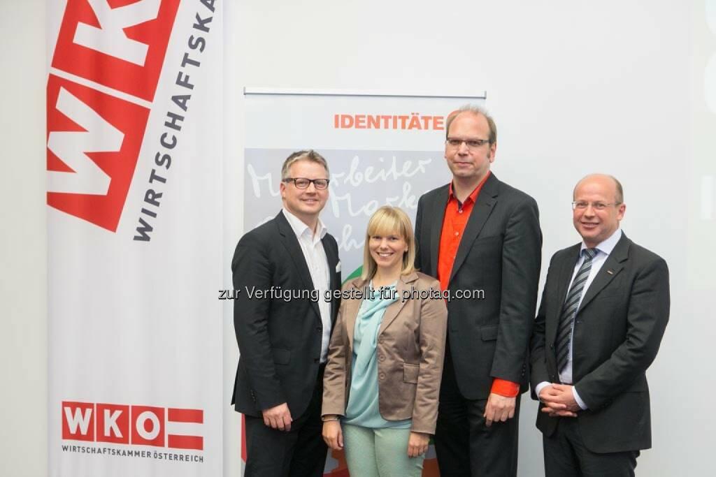 Ralf Tometschek (Wortwelt), Sabine Hödl (Identitäter), Klaus Eck (Eck Consulting Group), © Martina Draper für Corporate Culture Club (18.05.2014)