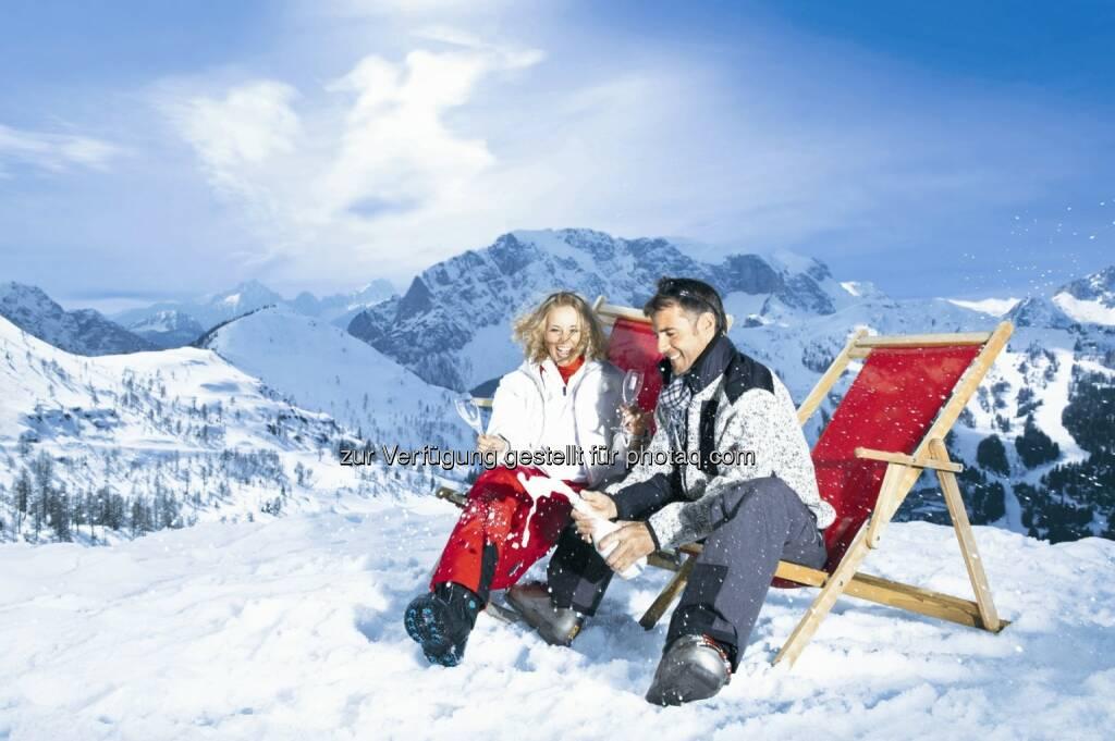 Rekordwinter am Kärntner Nassfeld: 13 % Prozent Zuwachs bei den Ankünften und 5,5 % Zuwachs bei den Übernachtungen - Berge, Liegestuhl, Schnee (Bild: nassfeld.at/Erber) (19.05.2014)