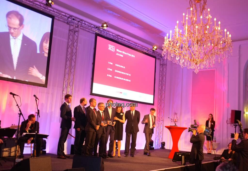 ATX-Preis  1. Platz: voestalpine AG  2. Platz: Österreichische Post AG  3. Platz: CA Immobilien AG, © Drastil / bzw. Wiener Börse (2) (20.05.2014)