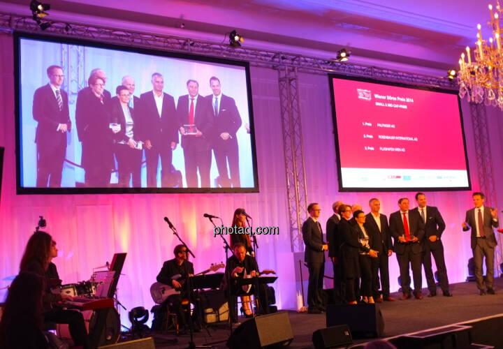 Small & Mid Cap-Preis  1. Platz: Palfinger AG  2. Platz: Rosenbauer International AG  3. Platz: Flughafen Wien AG