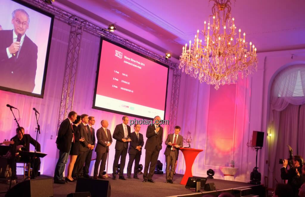 Corporate Bond-Preis  1. Platz: OMV AG  2. Platz: Strabag SE  3. Platz: Wienerberger AG , © Drastil / bzw. Wiener Börse (2) (20.05.2014)