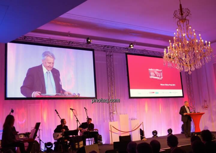 Jean-Claude Trichet war Hauptredner beim Wiener Börsepreis 2014