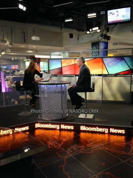 Nasdaq OMX's CFO Lee Shavel discusses technology, disruption and the IPO Market with Trish Regan on Bloomberg TelevisionV  Source: http://facebook.com/NASDAQ (21.05.2014)