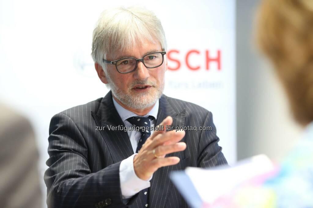 Klaus Huttelmaier (Alleinvorstand der Robert Bosch AG und Repräsentant der Bosch-Gruppe in Österreich) - Das Technologie- und Dienstleistungsunternehmen Bosch erwartet in Österreich für 2014 eine positive Geschäftsentwicklung und weitet Aktivitäten in Österreich aus (Bild: Robert Bosch AG/APA-Fotoservice/Schedl) (21.05.2014)