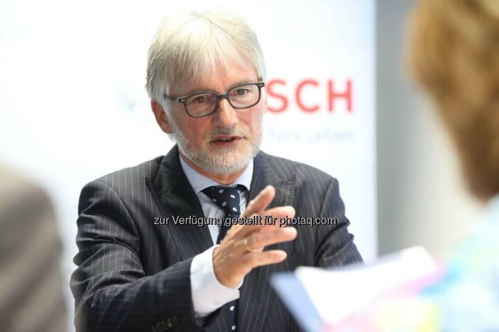 Klaus Huttelmaier (Alleinvorstand der Robert Bosch AG und Repräsentant der Bosch-Gruppe in Österreich) - Das Technologie- und Dienstleistungsunternehmen Bosch erwartet in Österreich für 2014 eine positive Geschäftsentwicklung und weitet Aktivitäten in Österreich aus (Bild: Robert Bosch AG/APA-Fotoservice/Schedl)