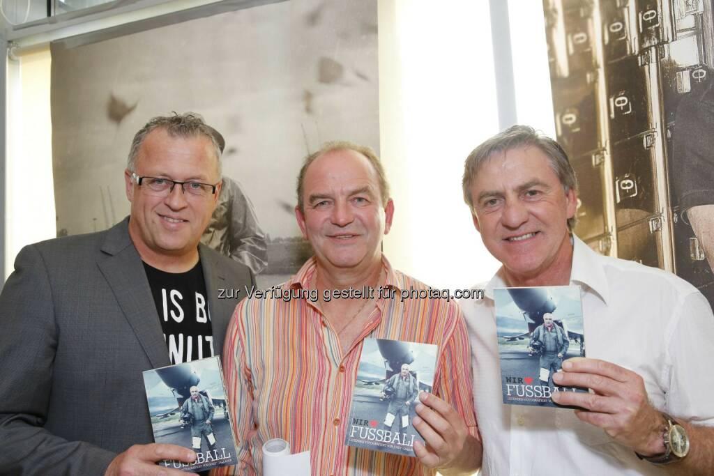 Franz Wohlfahrt,  Herbert Prohaska, Walter Schachner, © leisure.at/Mirjam Reither (22.05.2014)