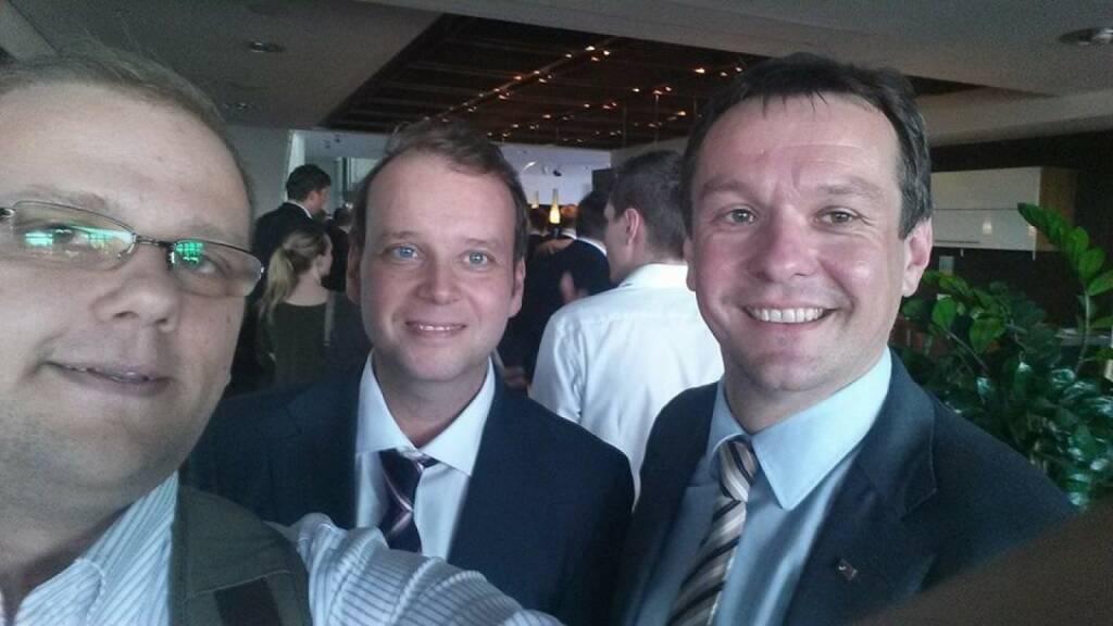 Selfie Akostart Startup meets Industrie: Wolfgang Hafenscher, Markus Raml, Robert Herger., © mit Genehmigung der jeweiligen Selfiesierenden (22.05.2014)