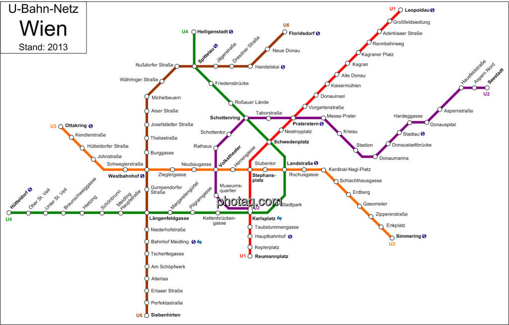 U-Bahn-Netz Wien (Stand 2013) (22.05.2014)