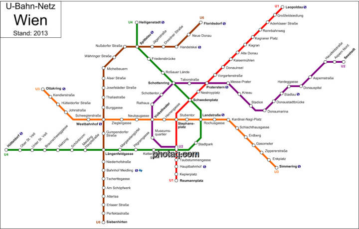 U-Bahn-Netz Wien (Stand 2013)