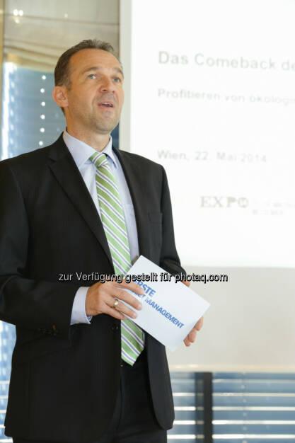 """Erste Asset Management Vorstand Christian Schön: """"Nachhaltige Investments sind im Vormarsch (22.05.2014)"""