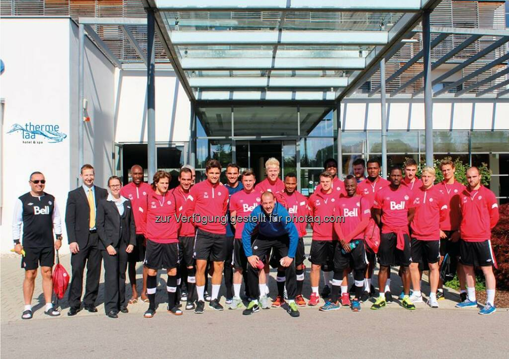 Fresenius Vamed welcomes the Canadian National Football Team for a ten-day stay at its Therme Laa - Hotel & Spa in Laa, Austria.  Source: http://facebook.com/fresenius.group (23.05.2014)