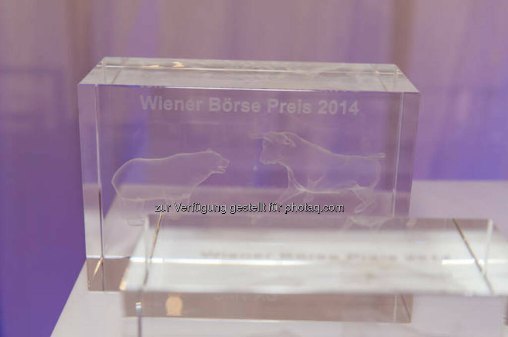 Bär Bulle Wiener Börse Preis 2014, &copy; viel mehr Bilder unter <a href=
