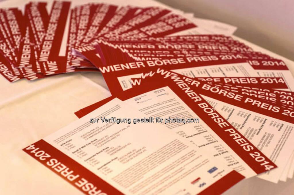 Wiener Börse Preis 2014, &copy; viel mehr Bilder unter <a href=