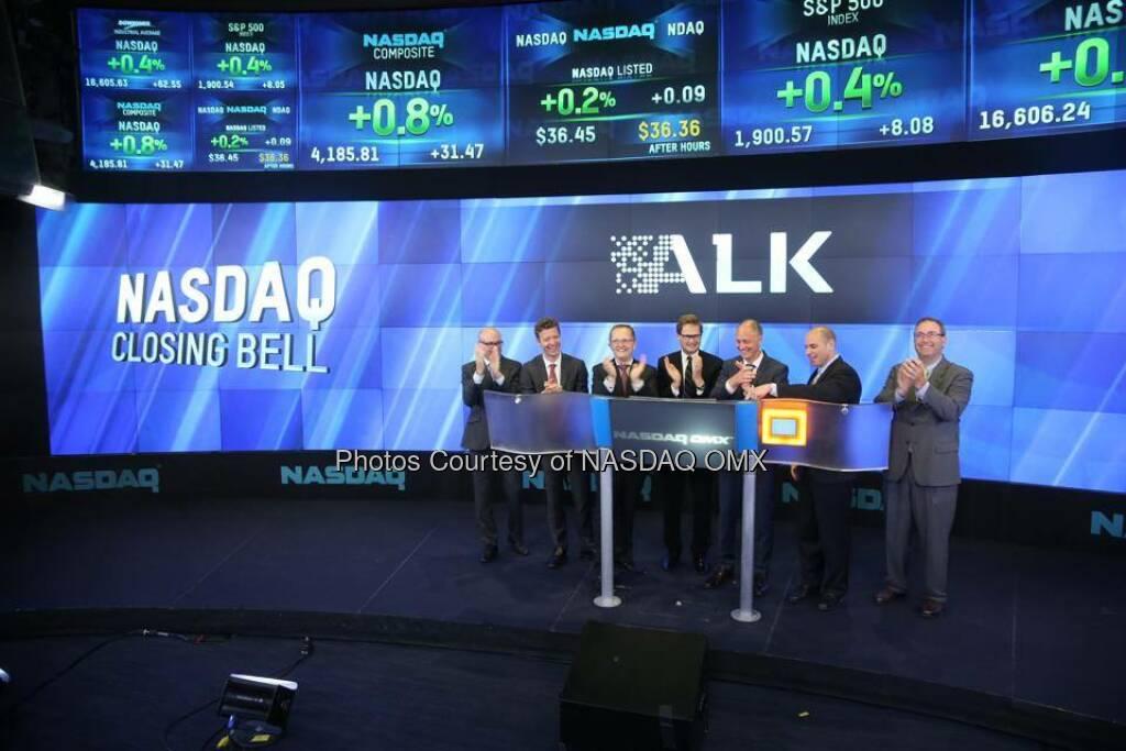 $ALKB: Alk-Abelló rings the Nasdaq OMX Closing Bell - http://facebook.com/NASDAQ (24.05.2014)