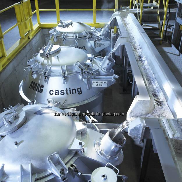 Flüssigaluminium, © Amag AG Homepage (25.12.2012)