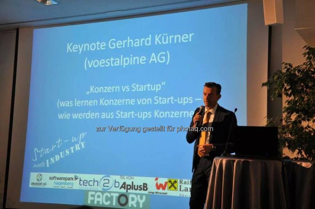Gerhard Kürner, voestalpine: Konzern vs. Startup, © Akostart (26.05.2014)