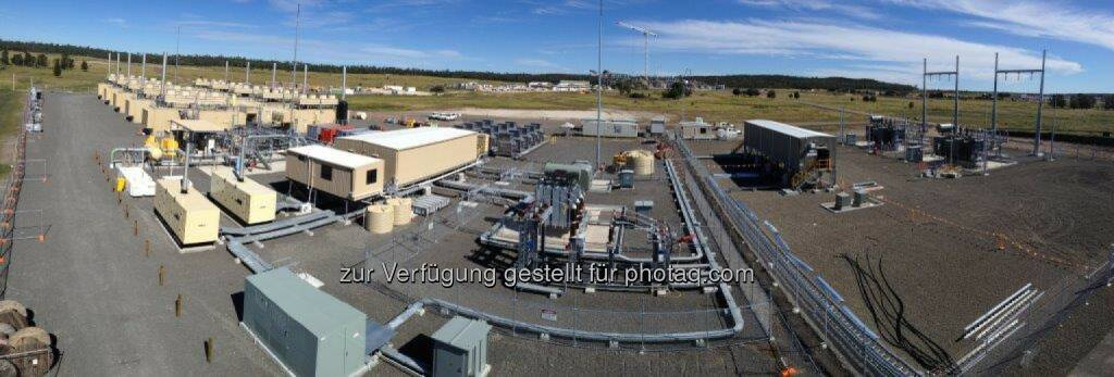 Jenbacher Gasmotoren: Wachstum durch internationalen Erdgas-Boom in Australien, Lieferung von 19 Jenbacher Gasmotoren von GE an Australia Pacific LNG, Reedy Creek / Eurombah Creek (Queensland, Australien) (Bild: GE/Jenbacher) (27.05.2014)