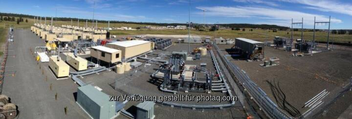 Jenbacher Gasmotoren: Wachstum durch internationalen Erdgas-Boom in Australien, Lieferung von 19 Jenbacher Gasmotoren von GE an Australia Pacific LNG, Reedy Creek / Eurombah Creek (Queensland, Australien) (Bild: GE/Jenbacher)