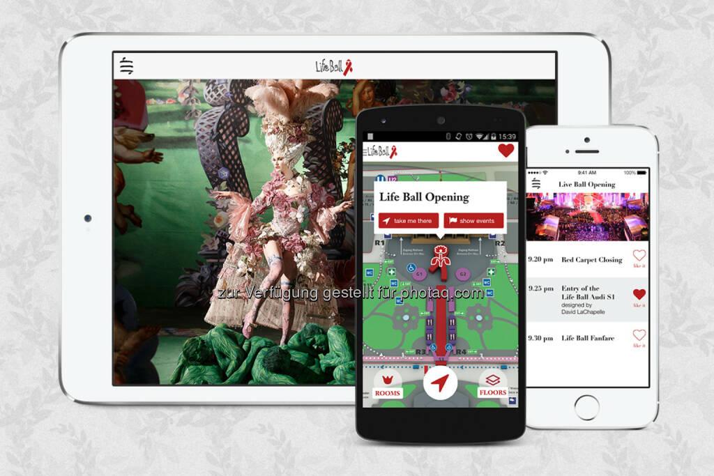Life Ball App 2014 von indoo.rs, der Wiener App Agentur blockhaus und StickNFind. (27.05.2014)