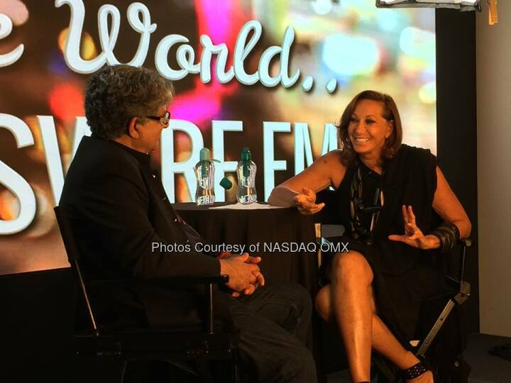 Donna Karan at her interview for One World with DeepakChopra Source: http://facebook.com/NASDAQ