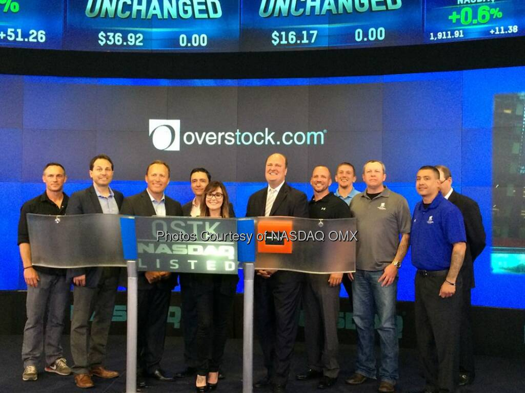 @Overstock.com ring the Nasdaq Opening Bell Source: http://facebook.com/NASDAQ (28.05.2014)