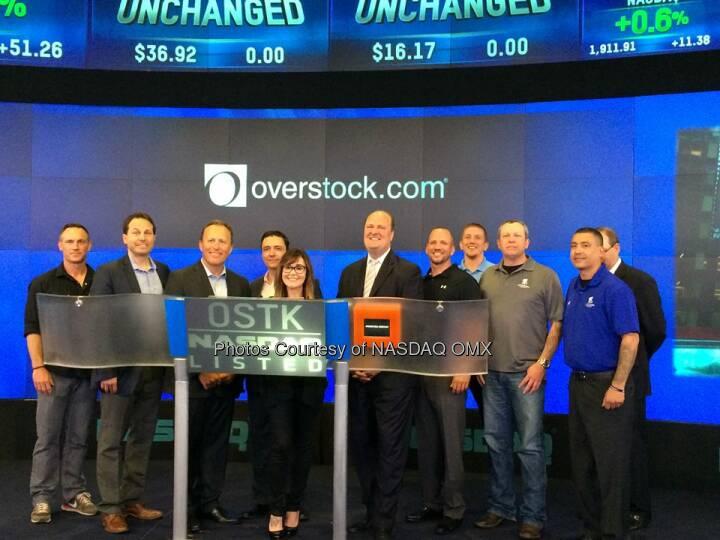 @Overstock.com ring the Nasdaq Opening Bell Source: http://facebook.com/NASDAQ