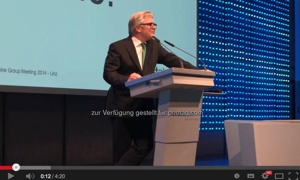 Wolfgang Eder beim 1. voestalpine Group Brand & Communication Day (29.05.2014)
