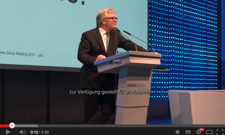 Wolfgang Eder beim 1. voestalpine Group Brand & Communication Day