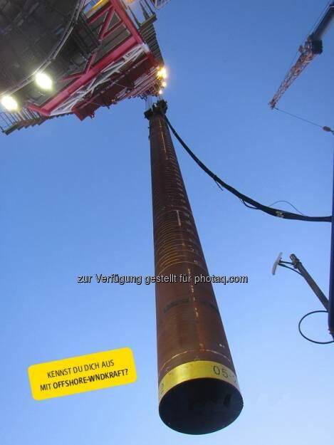 RWE Fotorätsel für Offshore-Experten: Was ist das?  Source: http://facebook.com/vorweggehen (30.05.2014)