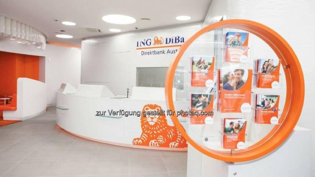 Servicebereich ING DiBa, ©  ING-DiBa Direktbank Austria (02.06.2014)