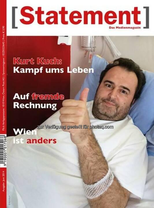 Österreichischer Journalisten Club: Das Medienmagazin [Statement] bringt ein berührendes Interview über den beeindruckenden Lebenswillen mit Kurt Kuch
