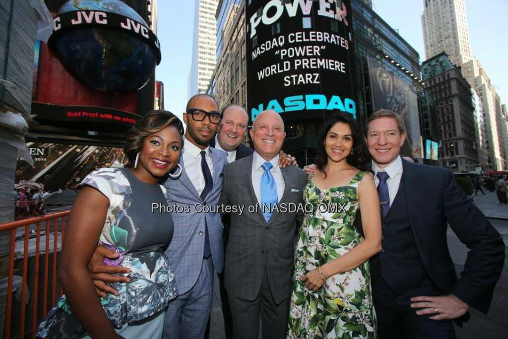 The cast of Power on Starz ring the Nasdaq Closing Bell  Source: http://facebook.com/NASDAQ (03.06.2014)