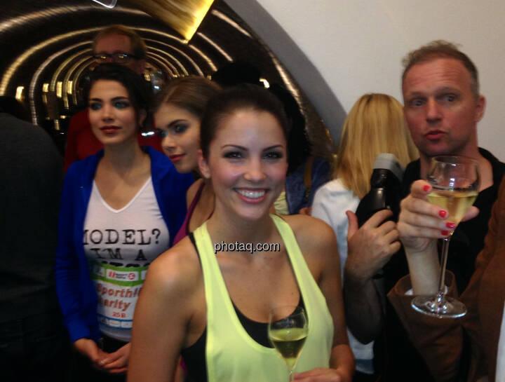 Models beim Sporthilfe Runtastic Charity Run bei Schlumberger
