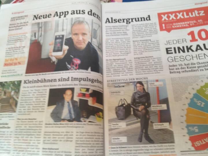 Runplugged in der Bezirkszeitung Alsergrund, Ausgabe 23/2014 , siehe http://www.meinbezirk.at/wien-09-alsergrund/chronik/neue-app-aus-dem-alsergrund-d970275.html
