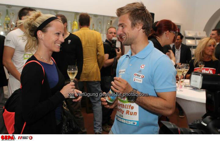Ludwig Paischer (AUT) und eine Teilnehmerin. Foto: GEPA pictures/ Philipp Brem