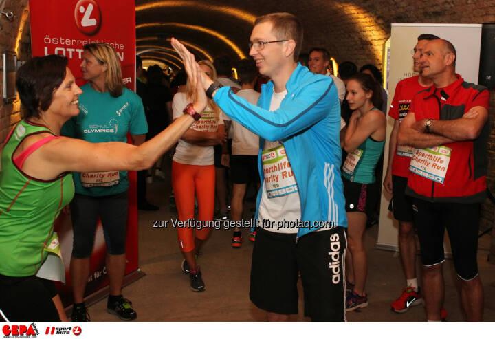 Teilnehmerin und Guenther Matzinger (AUT). Foto: GEPA pictures/ Philipp Brem