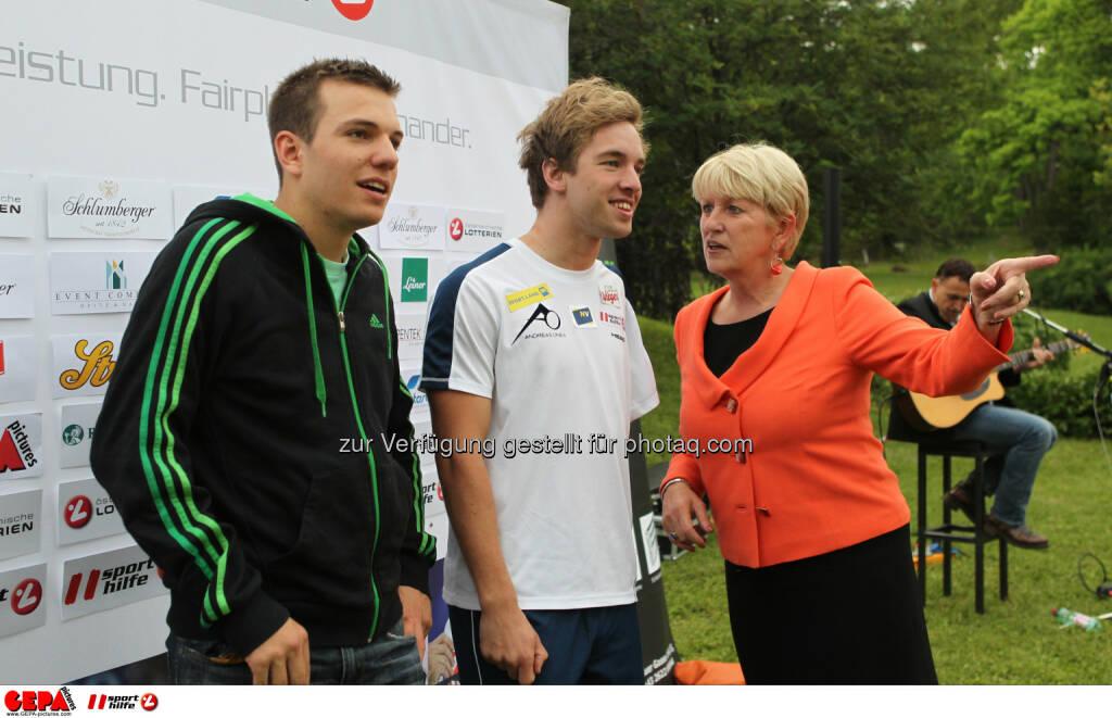 Markus Salcher, Andreas Onea (AUT) und Praesidentin Maria Rauch Kallat (OEPC). Foto: GEPA pictures/ Philipp Brem (04.06.2014)