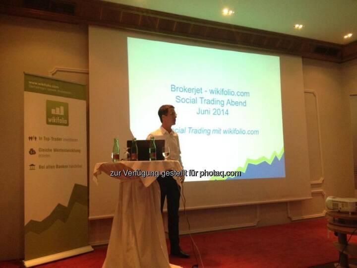 Christian Scheid bei einer brokerjet/wikifolio-Veranstaltung in Graz