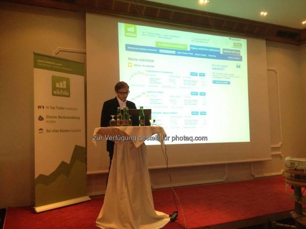 Andreas Kern bei einer brokerjet/wikifolio-Veranstaltung in Graz (04.06.2014)