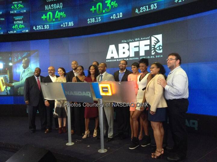 @ABFF shortly after ringing the Nasdaq closing bell! Source: http://facebook.com/NASDAQ