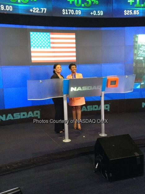 Congresswoman Yvette Clarke rings the Nasdaq Closing Bell in honor of CaribbeanHeritageMonth  Source: http://facebook.com/NASDAQ (07.06.2014)