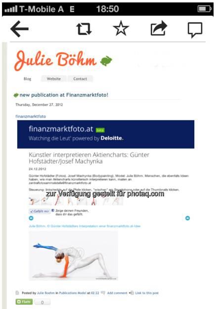 Dank an Julie Böhm (29.12.2012)
