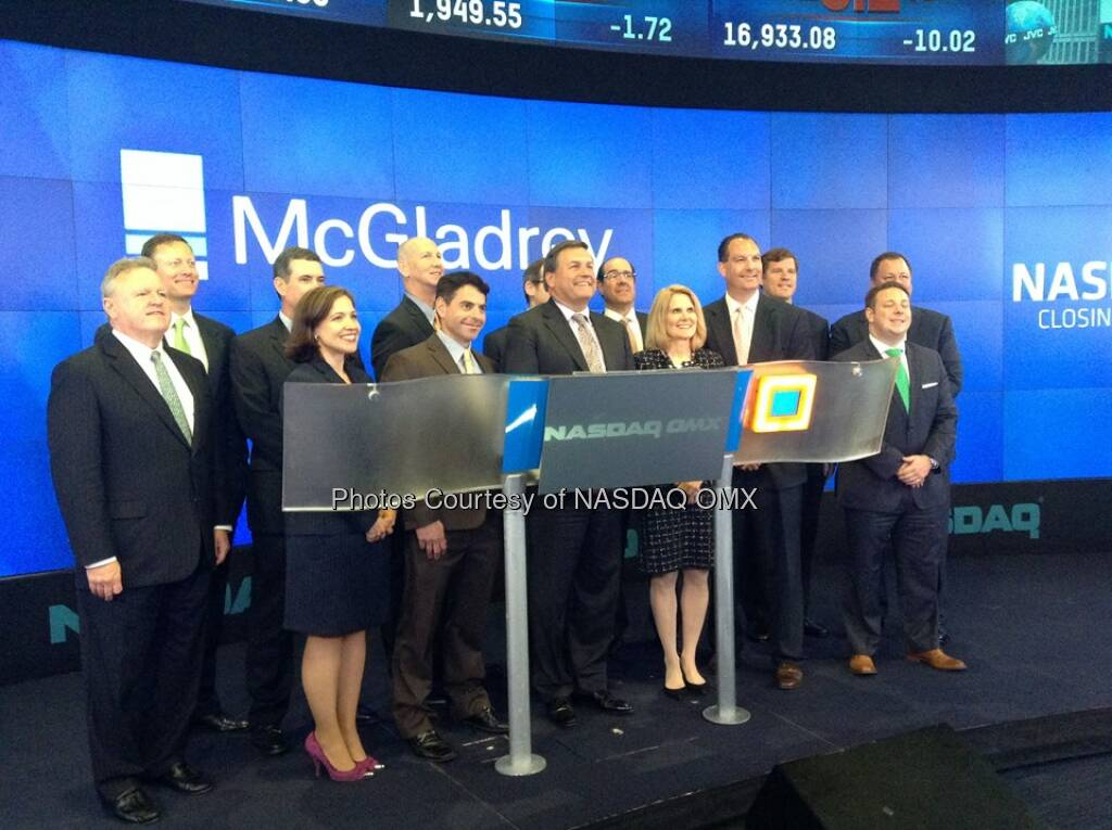 McGladrey rings the Nasdaq Closing Bell - Source: http://facebook.com/NASDAQ (11.06.2014)