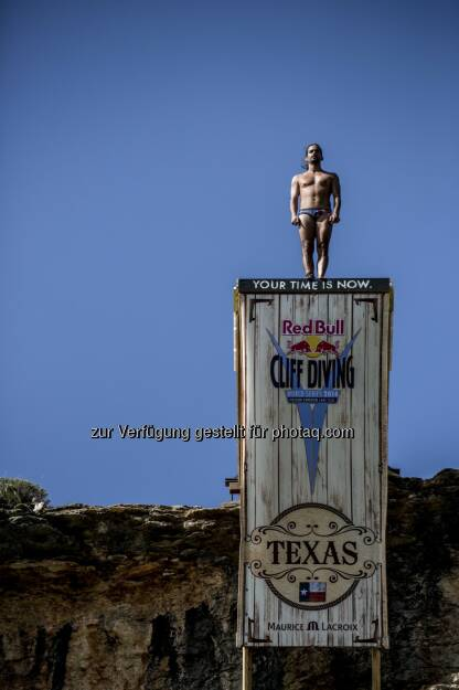 Orlando Duque, Red Bull Cliff Diving Texas, © Maurice Lacroix, Red Bull (11.06.2014)