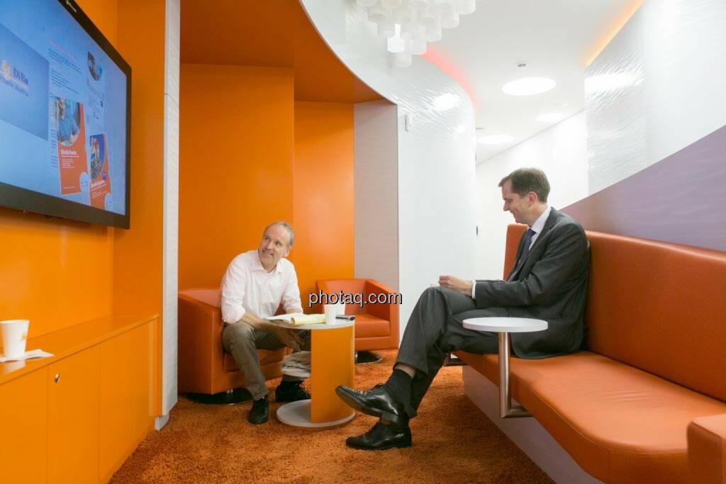 Christian Drastil, Roel Huisman (CEO ING-DiBa Direktbank Austria), © photeq/Martina Draper (12.06.2014)
