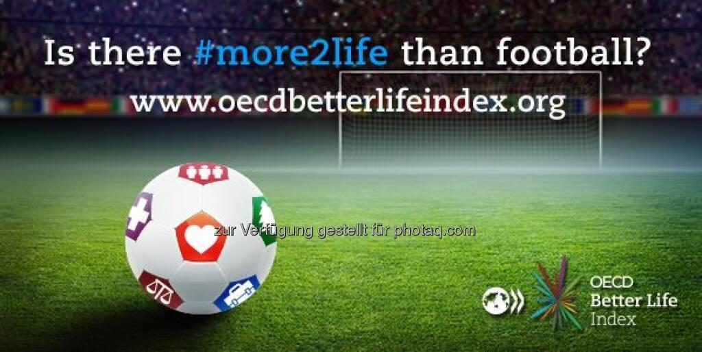 Gibt es mehr im Leben als Fußball? In Brasilien etwa legen die Menschen besonders viel Wert auf Bildung, kommen aber laut OECD Better Life Index von 36 Ländern bisher nur auf den vorletzten Platz.  Mehr Infos über das, was den Menschen im Leben wichtig ist, findet Ihr unter http://www.oecdbetterlifeindex.org/de/antworten/  Source: http://twitter.com/oecdstatistik, © OECD (12.06.2014)