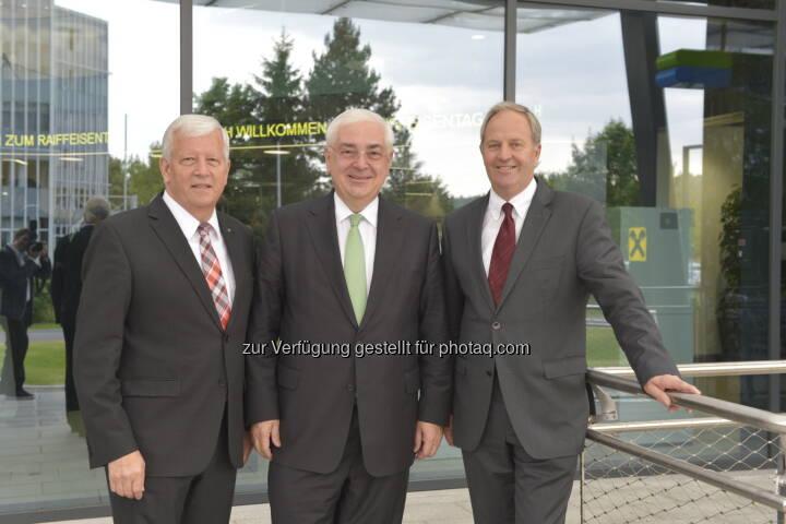 Walter Rothensteiner als Generalanwalt des ÖRV wiedergewählt, im Bild mit seinen beiden Stellvertretern Jakob Auer (l.) und Wilfried Thoma. Fotocredit: ÖRV